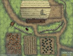 Dungeon Mapster is creating maps for pathfinder tabletop games and dungeons and dragons Fantasy Map Maker, Fantasy City Map, Fantasy Places, Fantasy Rpg, Pathfinder Maps, Rpg Map, Pen & Paper, Map Layout, Haunted Forest