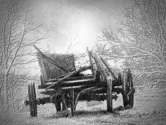 Lost Prairie Wagon - Art Print