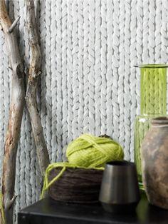 Fargerike - limited edition knit pattern wallpaper