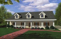 Covered Porches Front and Back - 2565DH | 1st Floor Master Suite, Country, PDF, Photo Gallery, Split Bedrooms | Architectural Designs