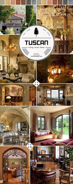 From Italy: Tuscan Living Room Ideas - Mediterranean Decor Style At Home, Style Toscan, Tuscan Style Homes, Tuscan House, Villa Toscana, Casa Magnolia, Tuscan Living Rooms, Italian Living Room, Tuscany Decor