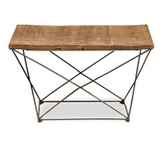 Benton Coffee Table Modern not only in aesthetics but construction as well, this table pairs minimalism with a rustic, handmade feel. Each piece is made unique by the reclaimed pine tabletop. The solid iron base provides steady support reinforced by crisscrossing halfway down.