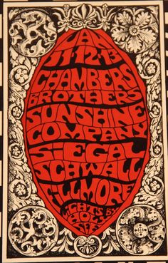 iGavel Auctions: Three Fillmore Concert Posters, Bill Graham, 1966-68, N3GNS RR1 Rock Posters, Concert Posters, Music Posters, Psychedelic Rock, Psychedelic Posters, Poster Art, Art Posters, Illustrations Posters, Westerns
