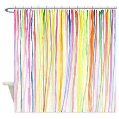 Watercolour Stripes, Shower Curtain on CafePress.com