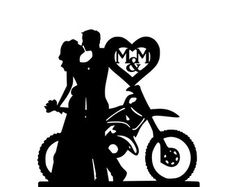 motorcycle themed wedding cake toppers WRN httpbitly1hGJhXG