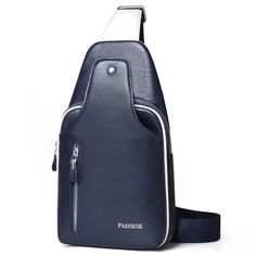 Lanica Mens Genuine Leather Buniess Crossbody Chest Pack Sling Backpack Shoulder Bag. Material :Outside: Genuine Leather + Inside:Top quality Polyester. Dimension: 12.59(H)*7.08(L)*2.75(W)inch. Product Structure External structure: 1*Compartment bag 1*Mobilephone bag Internal Structure: 1*main pocket , 2*zipper Pocket.