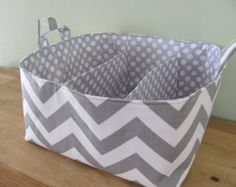 NEW Fabric Diaper Caddy Fabric organizer by hipbabyboutique