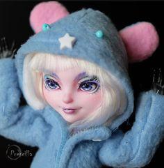 Custom Ever After Monster High Doll Bunny Blanc OOAK Repaint by Prescilla | eBay