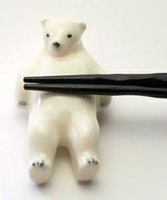 polar bear chopstick rest