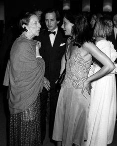 Diana Vreeland with Fred Hughes and Diane von Furstenberg 1975