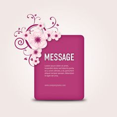 Message Box, DryIcons.com #cherry #blossoms #box
