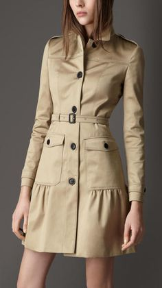 Gather Detail Trench Coat