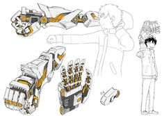 Mechanical Arms indie japanese animation project now on Kickstarter. Mechanical Arm, Mechanical Design, Robot Concept Art, Weapon Concept Art, Armes Concept, Armes Futures, Character Concept, Character Art, Arm Drawing