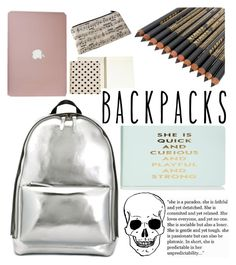 """school backpacks"" by dottedlense ❤ liked on Polyvore featuring 3.1 Phillip Lim, Kate Spade, Music Notes, backpacks, contestentry and PVStyleInsiderContest"