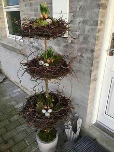 Tri-Level Easter Egg Nest Topiary