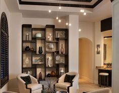 Click Pic for 24 Living Room Decorating Ideas | Wooden Shutters and Display Cubes | Living Room Ideas