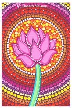 Pink Lotus by Elspeth McLean #lotus #yoga