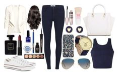 """""""~Date Night~"""" by rosalieex ❤ liked on Polyvore featuring mode, Ally Fashion, H&M, ONLY, Converse, Maybelline, Ray-Ban, Brooks Brothers, Chanel et NARS Cosmetics"""