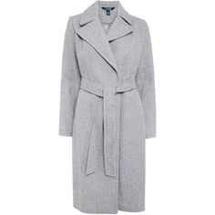 Lauren Ralph Lauren Wrap Coat, Grey (€200) ❤ liked on Polyvore featuring outerwear, coats, jackets, coats & jackets, casacos, lauren ralph lauren coat, wrap coat, lauren ralph lauren, long coat and reversible coats