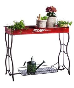 Red Wagon Potting Table #zulily #zulilyfinds