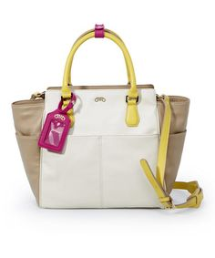 Take a look at this Beige Girlfriend Satchel by RoviMoss on #zulily today!