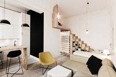 Stunning apartment in monochrome and wood