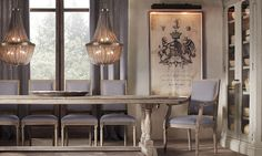 Rooms | Restoration Hardware Love the picture on the wall. Would be awesome to do this with the Frisbie family crest.