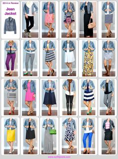 Outfit Posts: 2014 in review - outfit posts: jean jacket - 23 ways