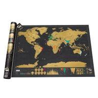 So anschaulich kann Geografie sein. Einfach die Orte auf der Karte an denen man schon war freirubbeln ....Fertig! Luckies Weltkarte Scratch Map Deluxe Edition
