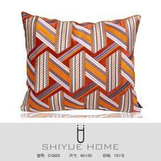 中式抱枕 新中式样板房抱枕靠垫现代简约黑白条纹几何格子抱枕套样板房沙发靠枕 QQ:2853529906