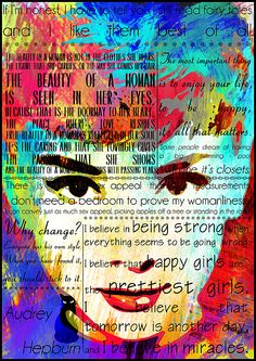 Audrey Hepburn Painting - Audrey Hepburn Motivational Inspirational Independent Quotes 2 by Diana Van Fine Art Prints, Framed Prints, Canvas Prints, Audrey Hepburn Painting, Independent Quotes, Nostalgic Art, Unique Art, Fine Art America, Original Artwork