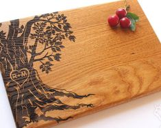 Personalized Cutting Board Wedding Gift, Tree cutting board, Custom Wedding Gift, Housewarming Gift, Anniversary Gift, Gift for Couple