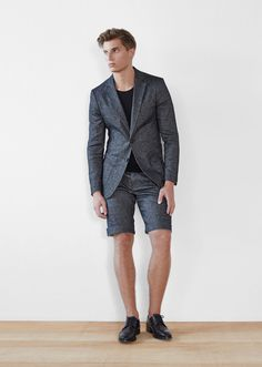 FRENN creates laid-back, tailored menswear to keep you looking sharp through all the quirks of real life. FRENN is designed in Helsinki and responsibly hand-manufactured in Finland and Estonia. Spring Summer 2016, Summer Wear, Mens Fashion 2018, Men's Fashion, Pin Man, Blazer And Shorts, Blue Suede Shoes, Dapper, Suit Jacket