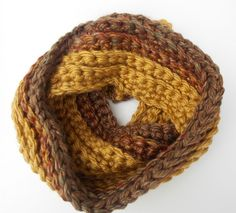 Super chunky, soft and cozy goldenrod infinity scarf. You will fall in love with…