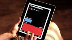 ipad interactive infographics. applied works for the times.