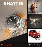 Shatter Photoshop Action by GraphixRiver