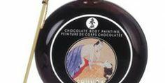 pintura corporal de chocolate
