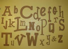 Unfinished Wooden Alphabet Letter Set - Wide