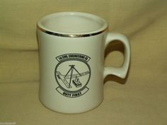 USAF CIVIL ENGINEERING PRIME BEEF SQ DUTY FIRST MUG CUP MILITARY SERVICE CO USA