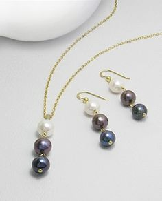 A set of lovely fresh water pearls in elegant jewelry is a great choice for any woman and any occasion: their tender loveliness is never out of fashion.