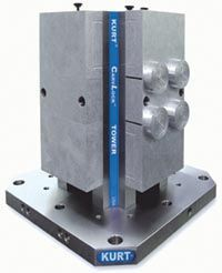 CTHD Manual Cluster Towers - The manually operated, eight station HD Cluster Tower system features a cast iron integral vise tower. Ideal for horizontal machining centers or vertical machining centers with indexable tables. This workholding system achieves workpiece immobility while damping cutter induced vibration. - http://www.kurtworkholding.com/high-density-cluster-towers-cthd-manual-cluster-towers-c-570_148_146-l-en.html