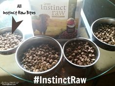 Instinct Raw Bites has the nutrition of raw with the convienence of kibble