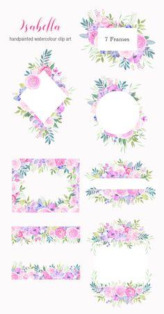 Succulent Wedding Invites Clip Art 55 New Ideas Floral Frames, Pink Succulent, Scrapbooking Digital, Frame Clipart, Sun Designs, Diy Invitations, Purple Roses, Flower Frame, Watercolor Flowers