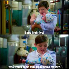 """Mary Margaret and Baby neal *baby high five* THIS WAS SO CUTE • 4 * 2 """"White Out"""""""