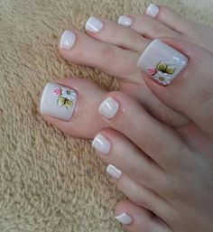 180 eye catching toe nail art ideas you must try page 30 180 eye catching toe nail art ideas you must try page 30 Related Pedicure Nail Art, Pedicure Designs, Toe Nail Designs, Toe Nail Art, Feet Nails, My Nails, Pretty Toe Nails, Nail Decorations, Fabulous Nails