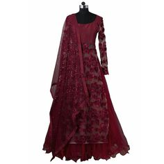 At India Boulevard our passion is handcrafting quality, customized Indian fashion from local boutique designers who are as unique as you are. Indian Gowns, Indian Attire, Indian Wear, Lehenga Style, Red Lehenga, Lehenga Choli, Floral Lehenga, Sari, Pakistani Outfits