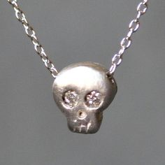 Diamond Skull Necklace now featured on Fab.
