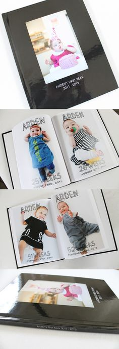 Photo Book Idea: Document one big, beautiful baby photo every week for a year to commemorate the life of a brand-new baby. #photobook #photo #idea #DIY #babybook #baby #babyphotobook #photobookidea #mixbook http://blog.mixbook.com/baby-photo-book-idea/