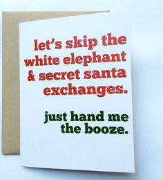 Secret #santa card from BEpaperie