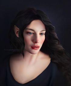 Lady Arwen. Whoever drew this did a wonderful job!